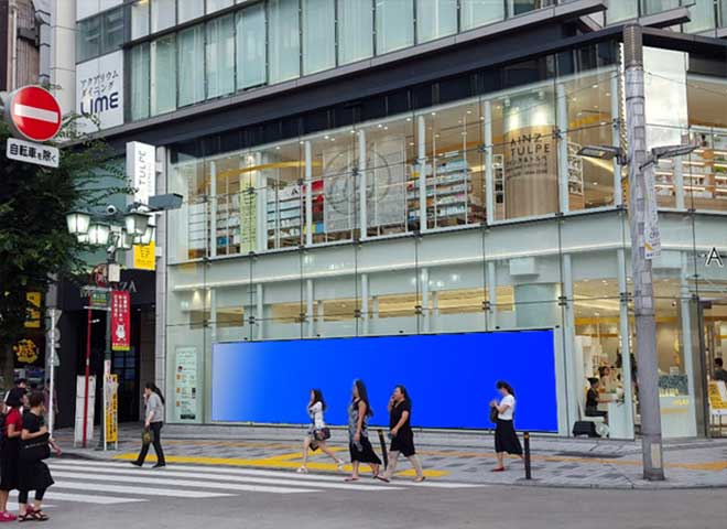 AINZ&TULPE新宿東口マルチビジョン広告画像