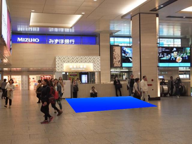 阪急ビッグマン前広場・1F中央WEST広場・販促用展示コーナー画像