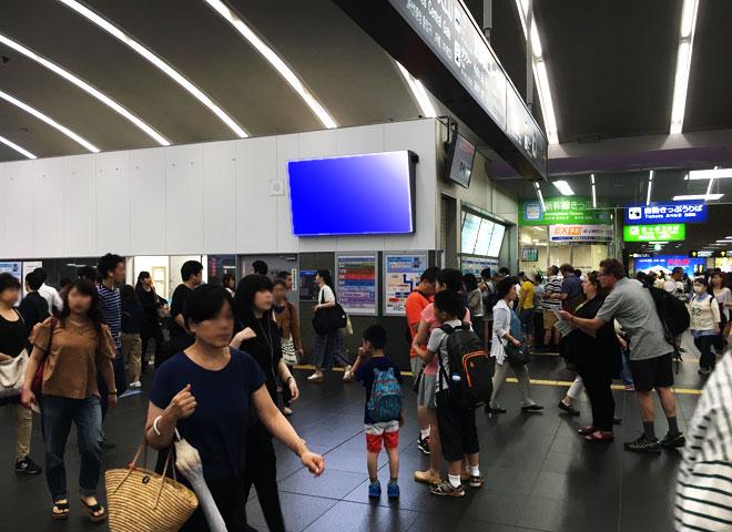 京都駅西口改札デジタルサイネージ