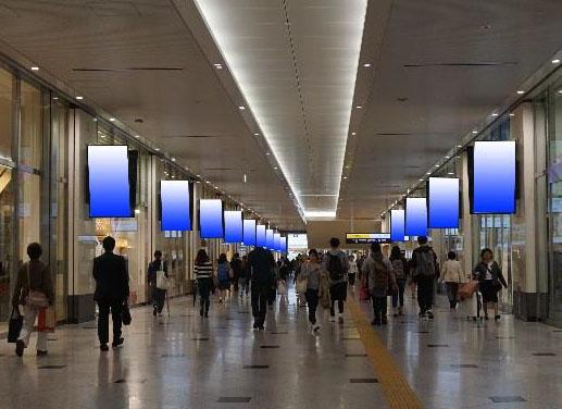 大阪駅 NGB1F東西通路DS30面セット