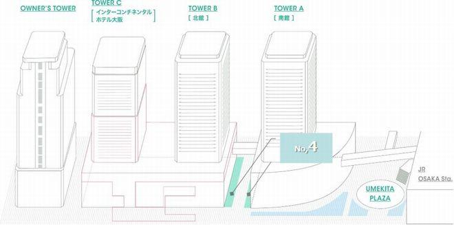 けやき並木フラッグ&ポスターボード_配置図