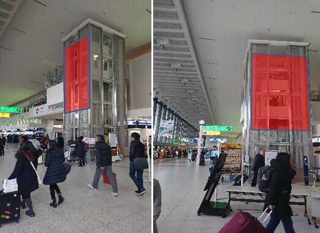 伊丹空港 南ターミナルWEV壁面バナー
