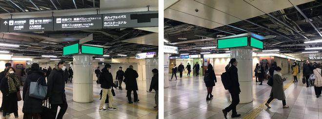 大阪駅前地下道 東広場29号 電照広告看板