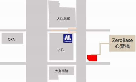 ゼロベース心斎橋_配置図