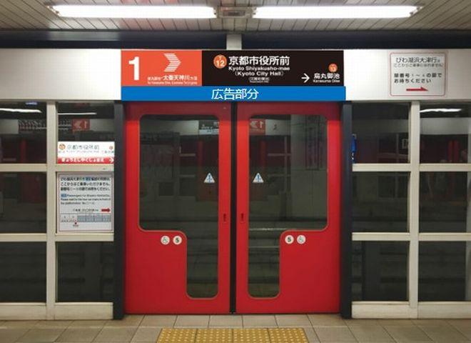東西線駅名板タイアップ広告(全駅)